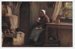 H.J. Dobson - Grannie's Cup Of Tea - Tuck Oilette 9343 - Tuck, Raphael