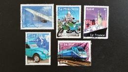 Timbre Oblitérés Série Complète Oblit Ronde  N° YetT - 3471 à 3475 - Le Siècle Au Fil Du Timbre: Transport - Année 2002 - Francia