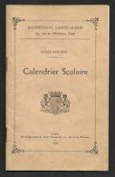 Calendrier Scolaire.  Institution Sainte-Marie à Caen.  Année 1929-1930. - Calendriers