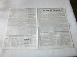 ARIEGE - ELEVE DES CHEVAUX DANS L'ARIEGE - REMONTE DE CAVALERIE - JOURNAL DE TOULOUSE De 1844. - Journaux - Quotidiens