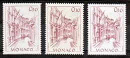Monaco 1405 Variété Papier Teinté Gomme Jaune Mate, Papier Blanc Gomme Jaune Brillante Et Normal Neuf ** TB  MNH - Variedades Y Curiosidades