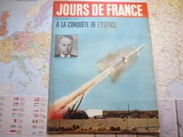 """Jour De France N°153 19 Octobre 1957 A La Conquête De L'espace L.Sedov Inventeur De """"bébé-lune"""" / 3 Présidents / Espion - People"""