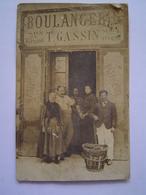 CARTE POSTALE Photographie Ancienne : BOULANGERIE GASSIN / VALBOURDIN / TOULON ( VAR ) - Magasins
