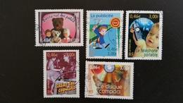 Timbre Oblitérés Série Complète Oblit Ronde  N° YetT - 3372 à 3376 -  Communication - Année 2001 - Francia