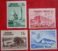 EXPO LIEGE Luik Int. Tentoonstelling Water Complete Set 1938 OBP 484-487 (Mi 482-485) Ongebruikt/ MH BELGIE BELGIUM - Belgique