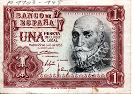 1 Peseta 1953 - 1-2 Pesetas