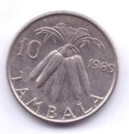 MALAWI 1989: 10 Tambala, KM 10 - Malawi