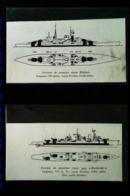 """Navire De Guerre - Plans Croiseur """"KARLSRUHE"""" Et Croiseur """"BLUCHER""""  -  2 Coupures De Presse (illustration) De 1940 - Planes Técnicos"""
