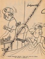 HUMOUR (1976) : Hôpital, Infirmière Coquine, Malade, Monsieur Martin, Fesses, Infarctus - Non Classés