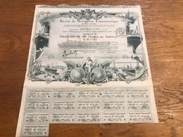 Action 1920 Société De Navigation Transocéanique - Navigation