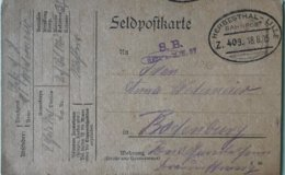 Guerre 14-18. FELDPOST. PEU COURANT - HERBESTHAL-LILLE BAHNPOST. Zug 409. RES A.M.K 37 - WW I