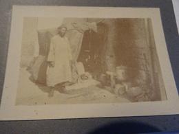 Photo Septembre 1915 LA CHEPPE - La Cuisine Des Goumiers, Zouave, Tirailleur (A198, Ww1, Wk 1) - Guerre 1914-18