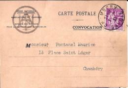 TYPE PAIX N° 281 SUR CP COMMERCIALE DE 1933 - 1932-39 Paz