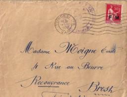 TYPE PAIX N° 283 FM SUR LETTRE DIVERSES DE 1935/37 - 1932-39 Paz