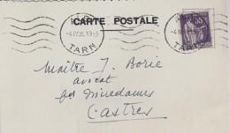 TYPE PAIX N° 363 SUR CP COMMERCIALE D'ALBI/4.4.38 - 1932-39 Paz