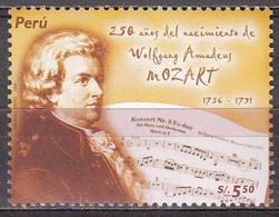 Peru  2006  W.A.Mozart  Michel  2132  MNH  27376 - Musique