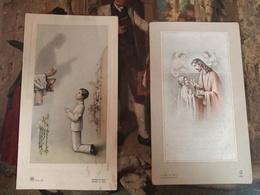 Boortmeerbeek 2 Comunnieprentjes Jaren 1950 - Images Religieuses