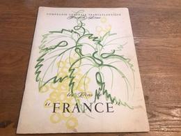 Compagnie Générale Transatlantique Carte Des Vins Du Paquebot France 12 Pages Décembre 1964 - Menú