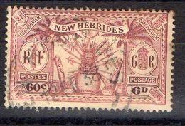 NOUVELLES-HEBRIDES (POSTE) : Y&T N° 96 TIMBRE BIEN OBLITERE , A SAISIR .B 3 - Used Stamps