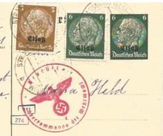 Sk943 - STRASSBURG - 1941 - Tarif 15 Pfennig Tarif CP Pour La Suisse - STRASBOURG - Censure - - Marcophilie (Lettres)