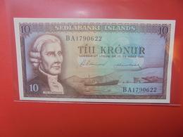 ISLANDE 10 KRONUR 1961 PEU CIRCULER (B.12) - Island