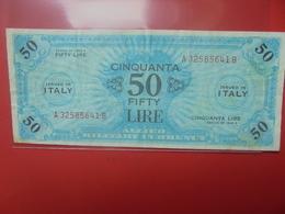 ITALIE 50 LIRE 1943 CIRCULER (B.12) - Geallieerde Bezetting Tweede Wereldoorlog