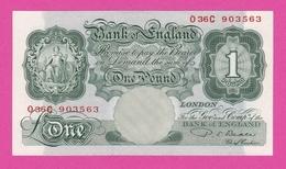 Billet ROYAUME UNI - 1 Pound ( 1949 55 ) - Pick 369b - 1 Pound
