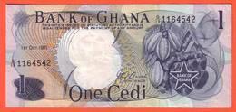GHANA  - 1 Cédi  Du  01 10 1971  - Pick 10 - Ghana
