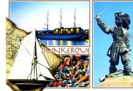Dunkerque 3 Vues Et Voilier: ( Jean Bart  , Voilier Duchesse Anne , Carnaval ; Il Neige Ce Début Février - Dunkerque