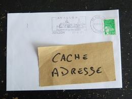 AVALLON- YONNE - FLAMME DOUBLE CERCLE AU COEUR DE LA BOURGOGNE SUR MARIANNE LUQUET - Mechanical Postmarks (Advertisement)