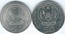 Rwanda - 50 Francs - 2003 - KM26 &  2011 - KM36 - Rwanda