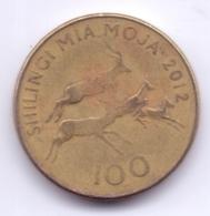 TANZANIA 2012: 100 Shilingi, KM 32 - Tanzanía