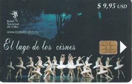 151  TARJETA DE CUBA DE EL LAGO DE LOS CISNES - Cuba