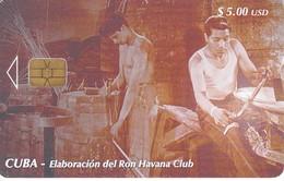 TARJETA DE CUBA DE LA SERIE DEL RON  TALLER DE TONELERIA  Nº3 - Cuba