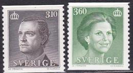 Schweden, 1987, Mi. Nr. 1418/19, MNH **.König Carl XVI. Gustav Und Königin Silvia. - Nuevos