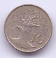 ZIMBABWE 1980: 10 Cents, KM 3 - Zimbabwe