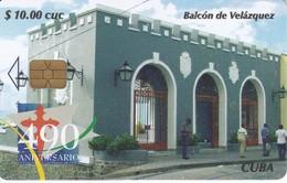 TARJETA DE CUBA DE BALCON DE VELAZQUEZ - Cuba
