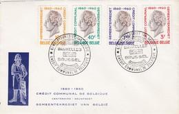 Enveloppe 1159 à 1162 Crédit Communal De Belgique Gemeentekrediet Van België - Belgium