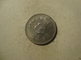 MONNAIE TAIWAN 1 YUAN 1975 / 64 - Taiwan