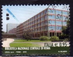 ITALIA REPUBBLICA ITALY REPUBLIC 2015 LE ECCELLENZE DEL SAPERE BIBLIOTECA NAZIONALE CENTRALE DI ROMA USATO USED OBLITERE - 6. 1946-.. Repubblica