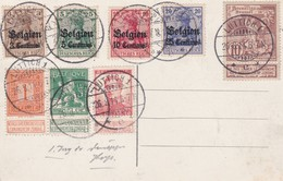 2 Scans Lüttich OC 1 à 4 - 72 108 109 118 Carte Liège Place Saint-Lambert Palais De Justice - WW I