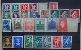 NEDERLAND  1946  Nr. 469-73 En 504-505  Scharnier * +  Nr. 490-94 /495-99 / 500-03 / 506-07 / 508-12  Postfr.   CW 31,00 - Periodo 1891 – 1948 (Wilhelmina)