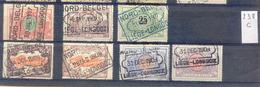 NB 238c   Nord - Belge Stempel LIEGE LONGDOZ     7  Zegels 1907/09 - Chemins De Fer