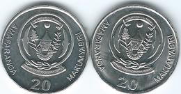 Rwanda - 20 Francs - 2003 KM25 & 2009 - KM35 - Rwanda