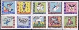 Schweden, 1987, Mi. Nr. 1431/40, MNH **. Rabatt-Freimarken: 80. Geburtstag Von Astrid Lindgren. - Sweden