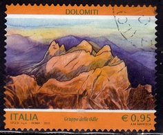 ITALIA REPUBBLICA ITALY REPUBLIC 2015 DOLOMITI GRUPPO DELLE ODLE USATO USED OBLITERE' - 6. 1946-.. Repubblica