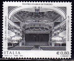 ITALIA REPUBBLICA ITALY REPUBLIC 2015 PATRIMONIO ARTISTICO E CULTURALE TEATRO STABILE DI TORINO USATO USED OBLITERE' - 6. 1946-.. Repubblica