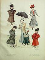 GRAVURE De MODE-GAZETTE De La FAMILLE-1898/48 - Prints & Engravings