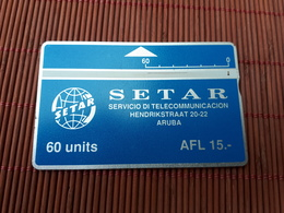 LANDIS & GYR 60 UNITS ARUBA 103 H (I) PHONECARD  USED RARE - Aruba