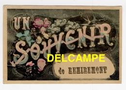 DD / 88 VOSGES / REMIREMONT / UN SOUVENIR DE REMIREMONT - Remiremont